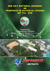 Cover for One Day National Seminar on Prospects in Material Science